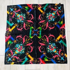 100% Silk Square Scarf Colorful Head Scarves 34x34